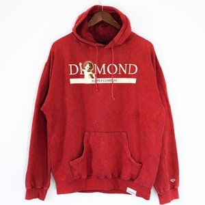 Diamond Supply Co Men's Size Large Red Hoodie